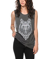 Obey Thunder Wolf Muscle T-Shirt