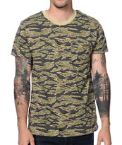 Obey Tiger Camo Pocket Tee Shirt