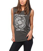 Obey Tiger Mandala Muscle Tee