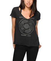 Obey Tiger Mandala V-Neck T-Shirt