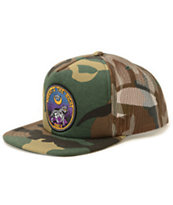 Obey Tonights The Night Camo Print Trucker Hat