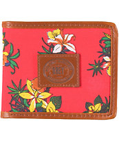 Obey Tourist Red Bifold Wallet