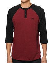 Obey Tre Henley Baseball T-Shirt