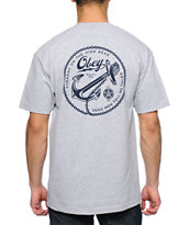 Obey Tyranny On The High Seas Heather Grey Pocket Tee Shirt