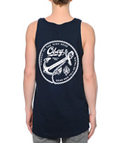 Obey Tyranny On The High Seas Navy Tank Top