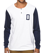 Obey Union Long Sleeve Henley Shirt