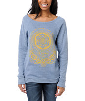 Obey United Art Workers Blue Vandal Crew Neck Sweatshirt