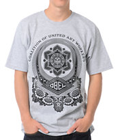Obey United Art Works Heather Grey Tee Shirt