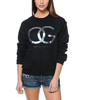 Obey Valdez OG Black Throwback Crew Neck Sweatshirt