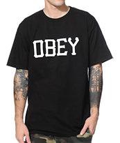 Obey Varsity Black T-Shirt