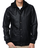 Obey Varsity Legend Black Hooded Jacket