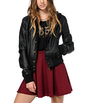 Obey Varsity Lover Faux Leather Jacket