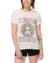 Obey Wasted White Back Alley Tee Shirt