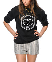 Obey Wave OG Black Crew Neck Sweatshirt