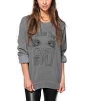 Obey We Are Free Crew Neck Sweatshirt