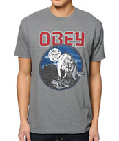 Obey Wild In The Streets Heather Grey T-Shirt