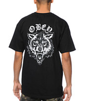 Obey Wolf Posse Black Tee Shirt