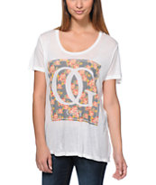 Obey Women's Boxed OG Floral White Beau Tee Shirt