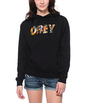 Obey Women's Collage Black Pullover Hoodie