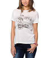 Obey Women's Coup D'Etat Natural Back Alley Tee Shirt