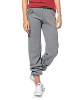 Obey Women's Cruise Liner Heather Grey Sweat Pants