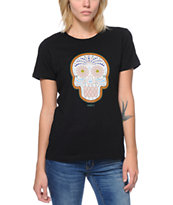 Obey Women's Day Of The Dead Color Black Tee Shirt