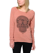 Obey Women's Day Of The Dead Picante Vandal Crew Neck Sweatshirt