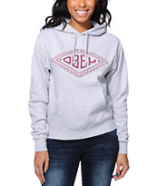 Obey Women's Diamond Leaf Heather Grey Pullover Hoodie