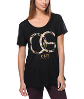 Obey Women's Emporium Black Beau Tee Shirt