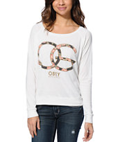 Obey Women's Emporium Natural Raglan Top