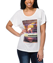 Obey Women's Furlong Glitch Natural Modern Dolman Tee Shirt
