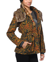 Obey Women's Garrison Camo Print Military Jacket