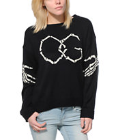 Obey Women's Got Cha Black Sweater