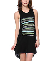 Obey Women's Lorelei Stripe Black Open Back Rider Dress