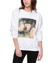 Obey Women's NTWC White Throwback Crew Neck Sweatshirt