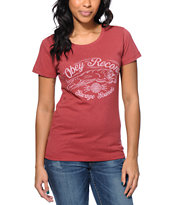 Obey Women's Savage Sounds Red Tri-Blend Tee Shirt