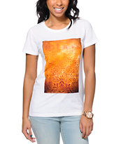 Obey Women's Shepard Floral Stencil Natural Tri-Blend Tee Shirt