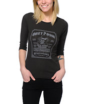 Obey Women's Troublemakers Charcoal Banshee Tee Shirt