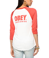 Obey Worldwide Family 2 Baseball T-Shirt