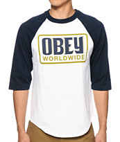 Obey Worldwide Posse Baseball Tee Shirt