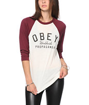 Obey Worldwide Propaganda Baseball T-Shirt
