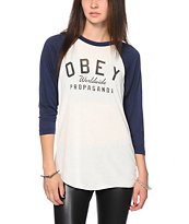 Obey Worldwide Propaganda Baseball Tee