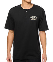 Obey Worldwide Propaganda Henley T-Shirt