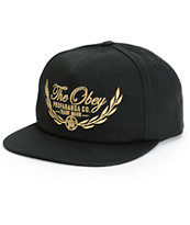 Obey Wreath Snapback Hat