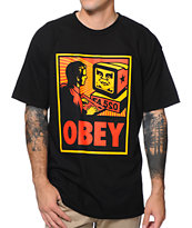 Obey Your Computer Black Tee Shirt