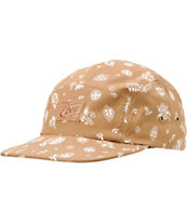 Obey Yuma Brown 5 Panel Hat