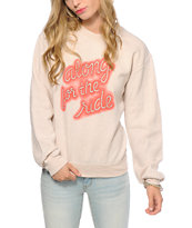 Obey x Meghann Stephenson Along For The Ride Crew Neck Sweatshirt
