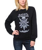 Obey x Suicidal Tendencies Possessed Black Crew Neck Sweatshirt