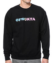 Odd Future Acronym Black Crew Neck Sweatshirt