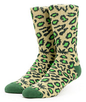 Odd Future Domo Cheetah Green Crew Socks